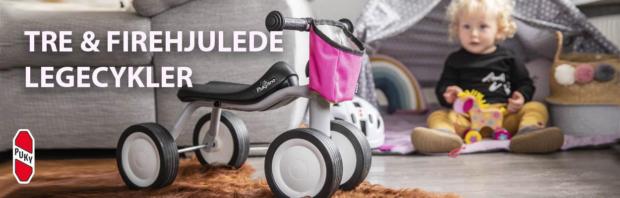 Legecykler & tricykler mv