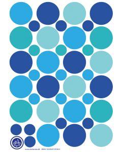 A3 Ark Klistermærker Til Ladcykel - Blå Dots