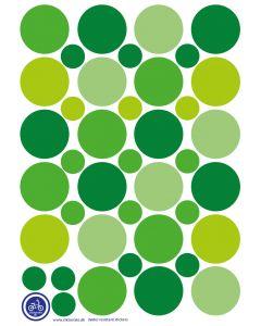 A3 Ark Klistermærker Til Ladcykel - Grønne Dots
