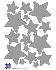 A3 Ark Klistermærker Til Ladcykel - Stjerner