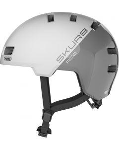 Abus Skurb ACE Silver White 52-56 cm