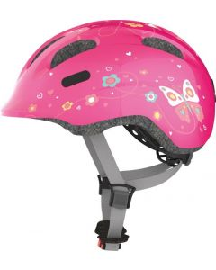 Abus Smiley 2.0 Cykelhjelm Pink Butterfly 45-50 cm