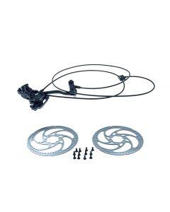 Hydraulisk bengal bremsesystem til ladcykler