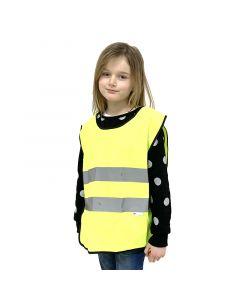 Gul sikkersvest til børn, 3 år, 4 år, 5 år, 6 år, 7 år, 8 år, 9 år, 10 år, 11 år, 12 år