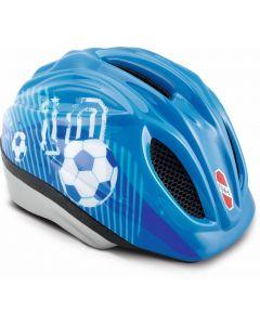 Puky cykelhjelm. blå fodbold M/L