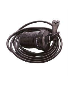 Gashåndtag med batteri indikator
