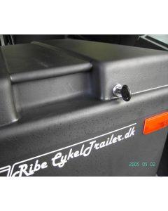Ribe cykeltrailer lås til kassens låg