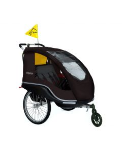 Winther Dolphin XL Sort cykeltrailer