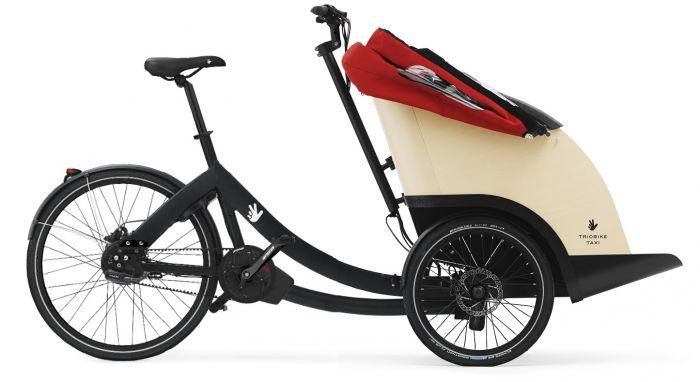triobike taxi-E mid drive black enviolo gear og remtræk Ladcyklen