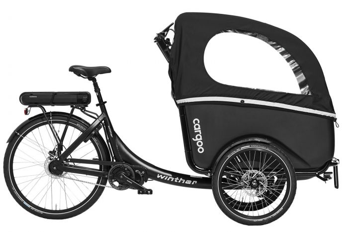 Winther Cargoo ladcykel med Shimano steps centermotor