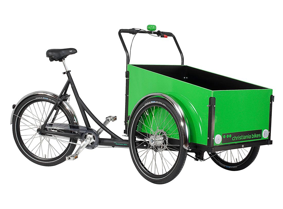 Christianis cykel med grøn kasse